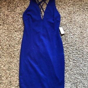 Bright blue body con like dress
